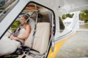 bride-waiting-to-take-off-in-plane