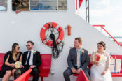 wedding-couple-and-witnesses-on-ferry