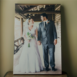 displayed-canvas-bride-and-groom-maine-photographer